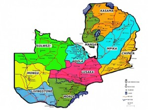 Overview of Zambian Dioceses