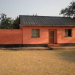 The newly painted Guesthouse