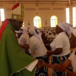 Archbishop Chama thanks the women