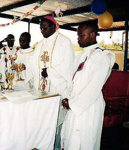 Fr. Chibuye (3rd left) at his ordination