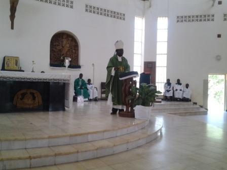 Apostolic Administrator addressing the women