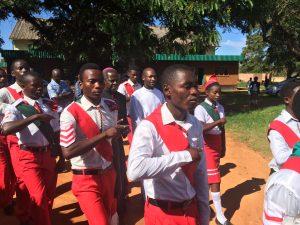 Xaverians escort the Bishop