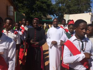 Reception of Bishop Mulernga at St. Andrew's, Mpika